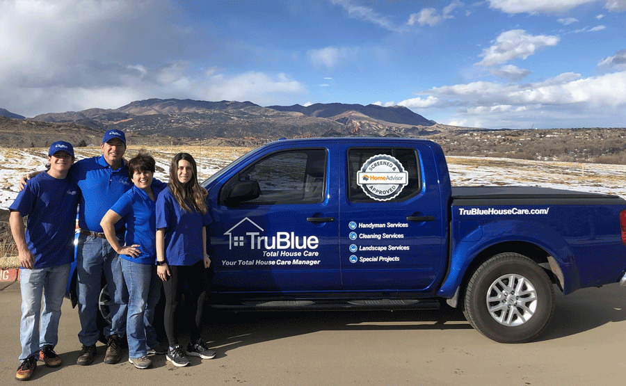 TruBlue Family and Truck