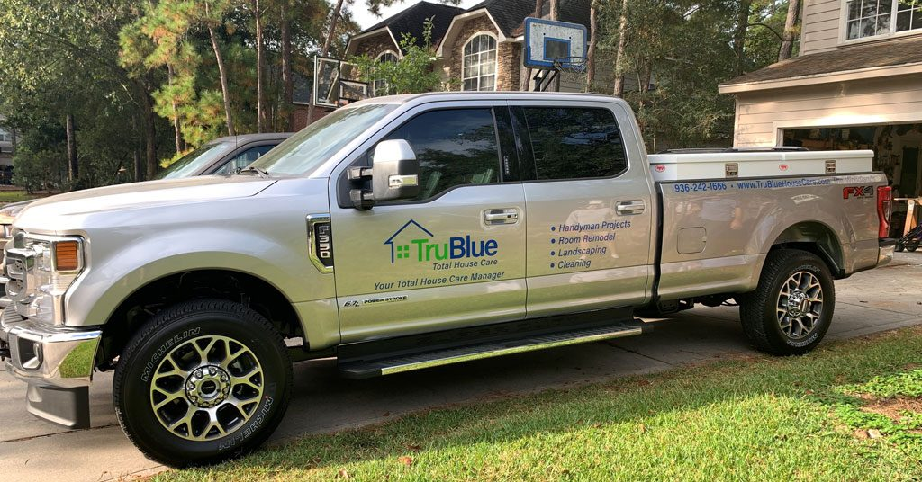 TruBlue Total House Care Truck