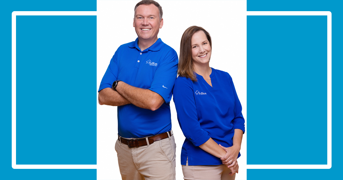 Brian Sacco and Jennifer Corder, Owners of Trublue Total House Care Charlotte, & Fort Mill